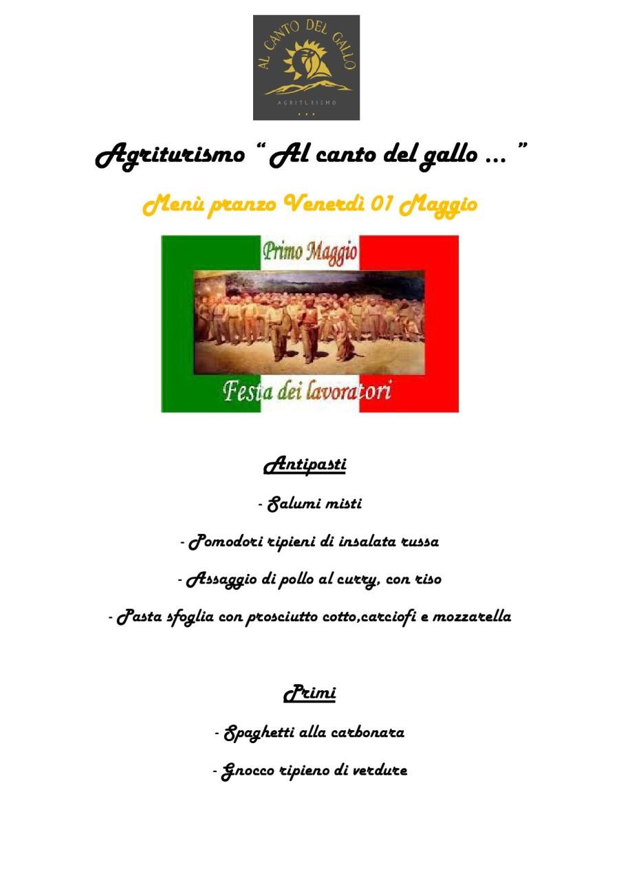 Menù 01 Maggio ( pag. 1)