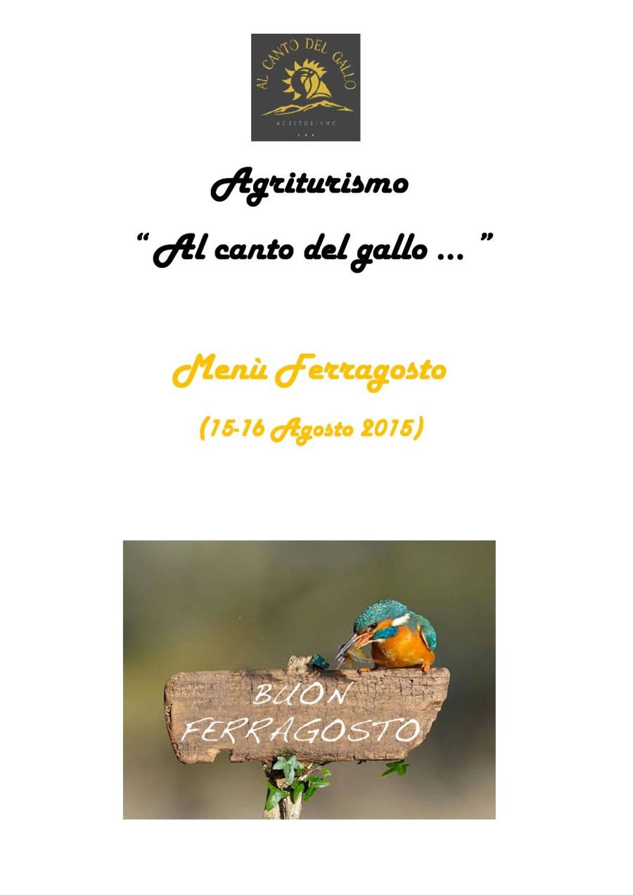 Menù Ferragosto 15 – 16 Agosto 2015 ( pag. 1 )