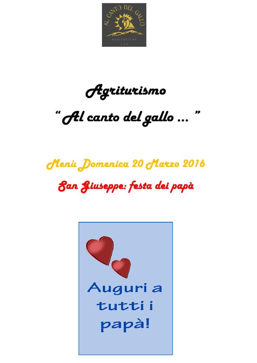 Menù Domenica 20 Marzo ( pag. 1 )