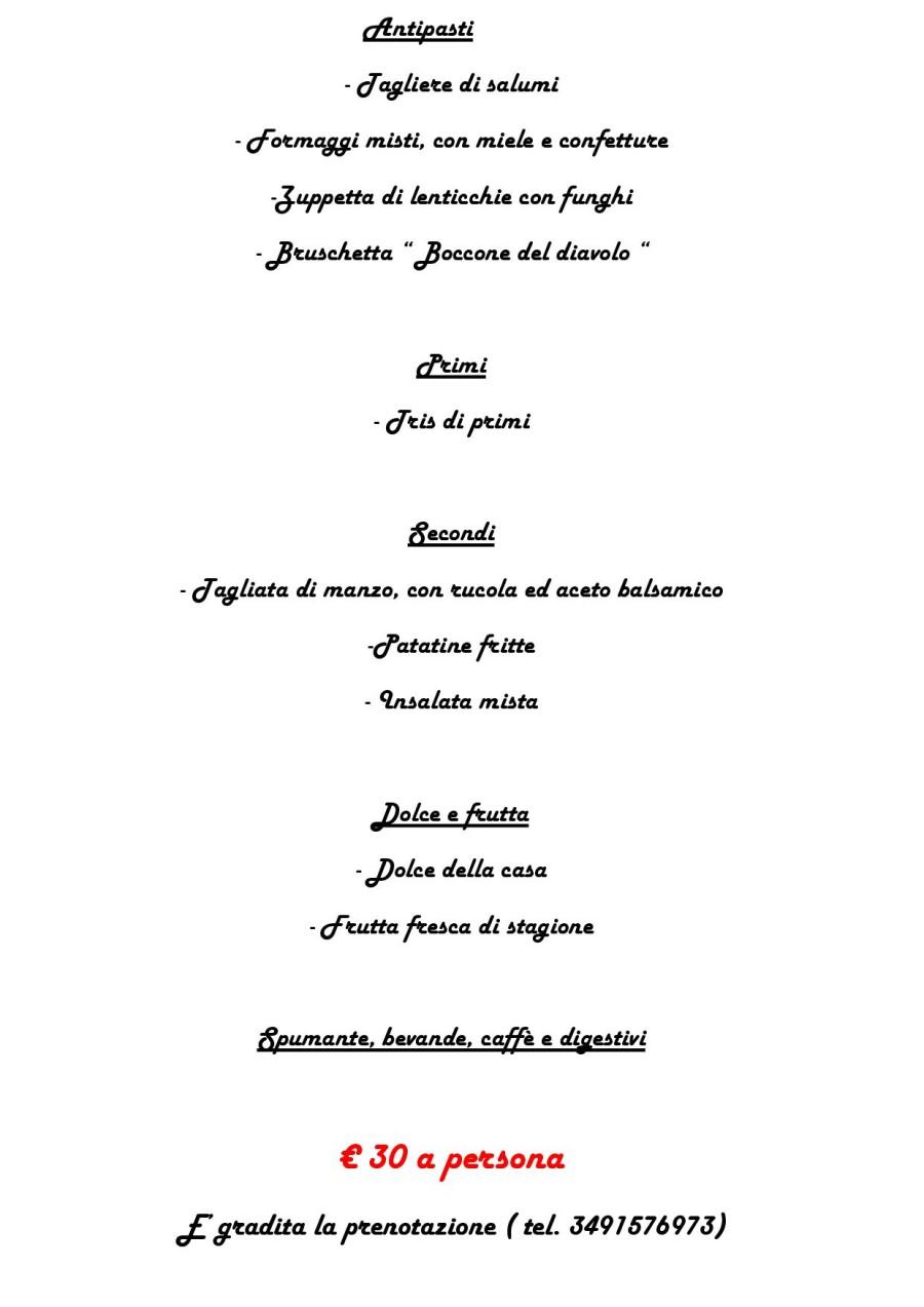 Menù di  Pasquetta 28 Marzo 2016 ( pag. 2 )