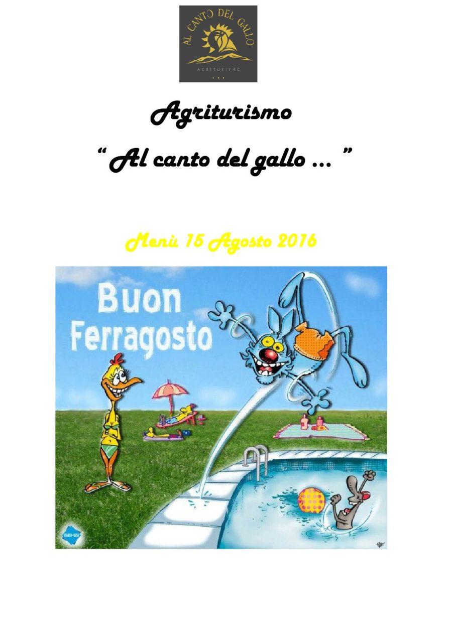 Menù Ferragosto 2016 ( pag. 1 )