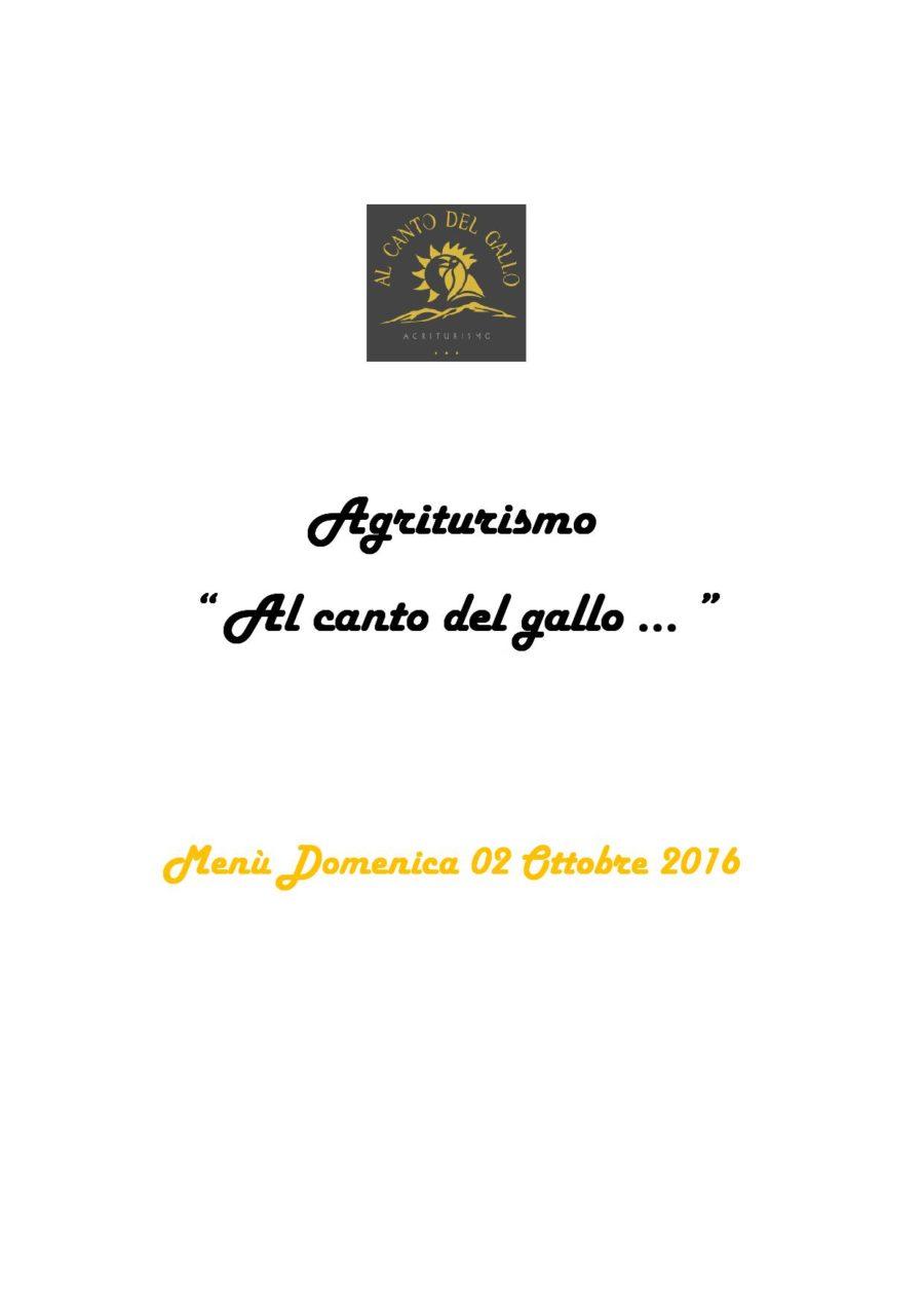 Menù Domenica 02 Ottobre 2016 ( pag. 1 )