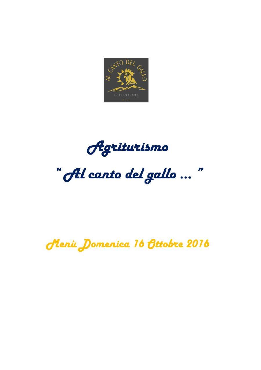 Menù Domenica 16 Ottobre 2016 ( pag. 1 )
