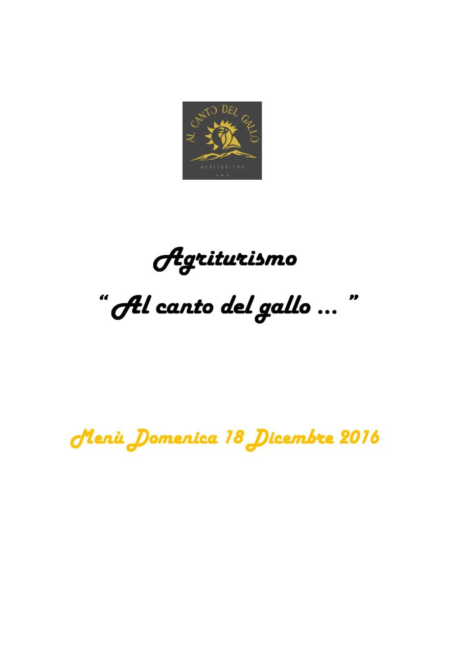 Menù Domenica 18 Dicembre 2016 ( pag. 1 )