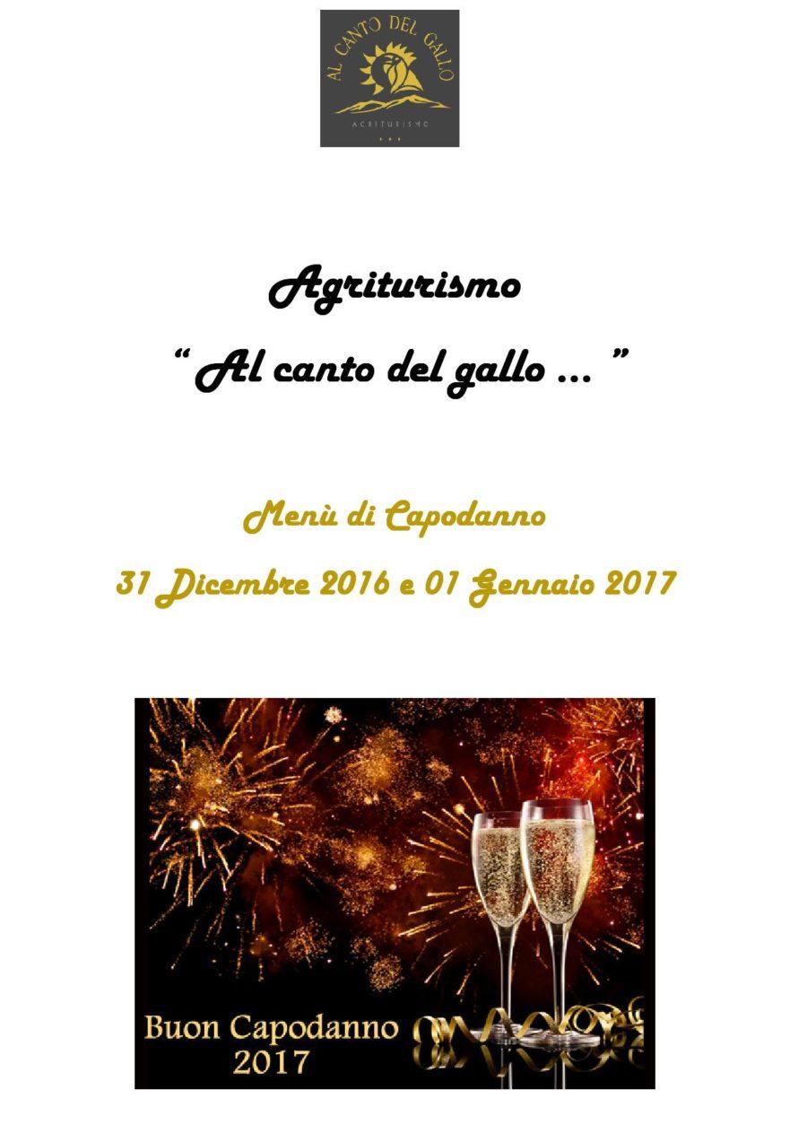 Menù Capodanno 2016-2017 ( pag. 1 )