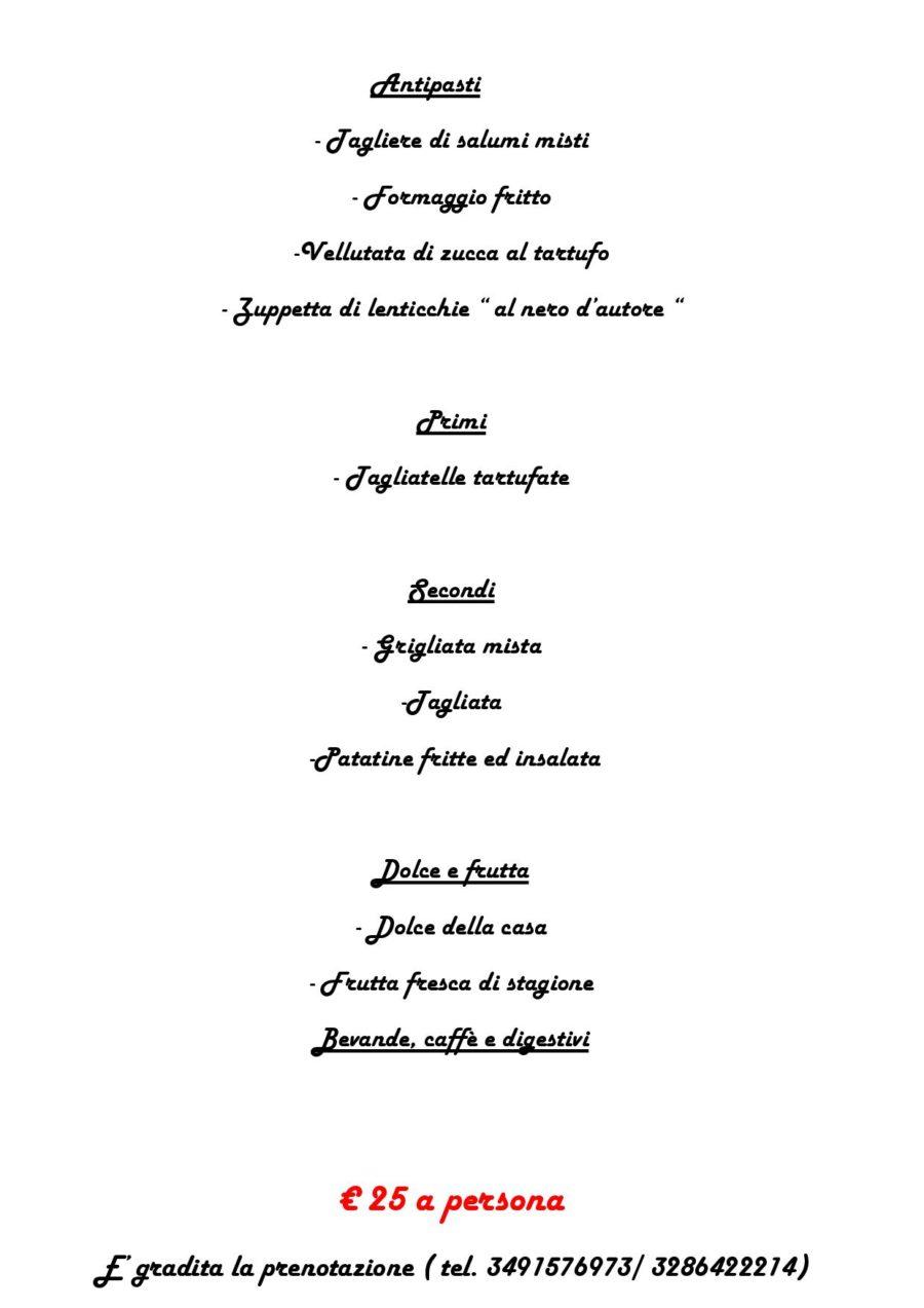 Menù del tartufo  19 Febb. 2017 (pag. 2 )