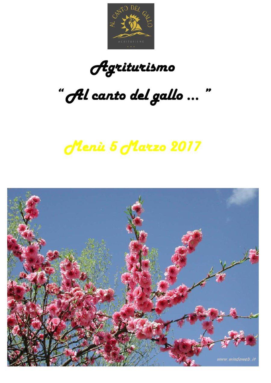Menù Domenica 5 Marzo 2017 ( pag. 1 )